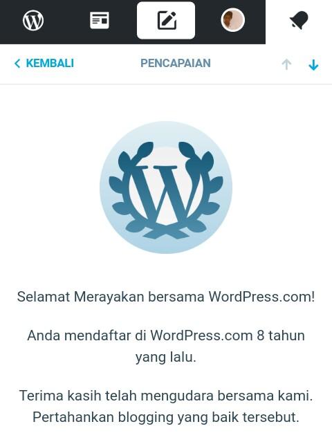 Merayakan 8 Tahun Bersama WordPress